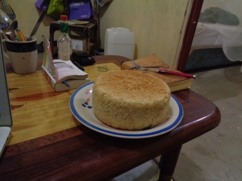 homemade bread, in pot on the stove top