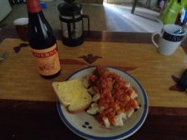 homemade gnocchi and meatballs